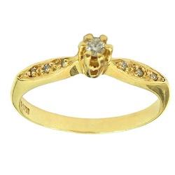 Lindos Anéis Solitários de Ouro 18K com Brilhantes... - RDJ JÓIAS