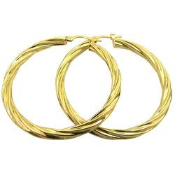 Argola Africana de Ouro 18K Fio Torcido - JBAR0001... - RDJ JÓIAS