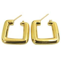 Argola de Ouro 18K 0750 Quadrada - JBR000228-2 - RDJ JÓIAS