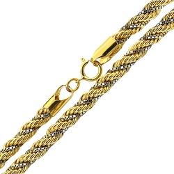 Cordão Trancilin Masculino de Ouro 18K 60cm - JC00... - RDJ JÓIAS