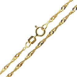 Cordão de Ouro 18K Feminino Modelo Singapura 45cm ... - RDJ JÓIAS