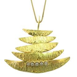 Gargantilha Design Italiano em Ouro 18K com Brilha... - RDJ JÓIAS