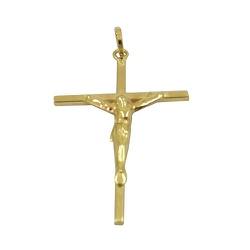 Cruz com Cristo em Ouro 18K - J03101012 - RDJ JÓIAS