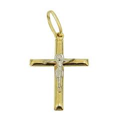 Pingente de Crucifixo com Cristo em Ouro 18K - JPG... - RDJ JÓIAS