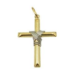 Pingente em Ouro 18K Crucifixo Médio - JPGR000152-... - RDJ JÓIAS