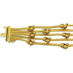 Pulseira de Ouro 18k com Brilhantes Modelo Nó - JP... - RDJ JÓIAS
