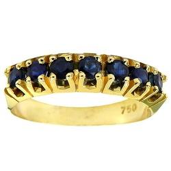 Anel de ouro com Safiras Azuis Naturais - JRD0640... - RDJ JÓIAS