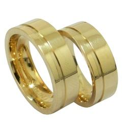 Alianças de Casamento em Ouro 18k 0,750 - 21023200... - RDJ JÓIAS
