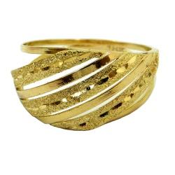 Anel de Ouro Feminino Diamantado - J02700514 - RDJ JÓIAS