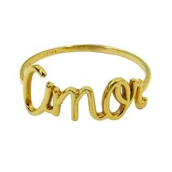Anel de Ouro 18k Amor - J12400148 - RDJ JÓIAS
