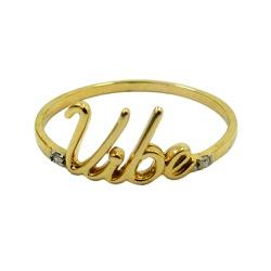 Anel em Ouro Vibe com Brilhantes - J14501138 - RDJ JÓIAS