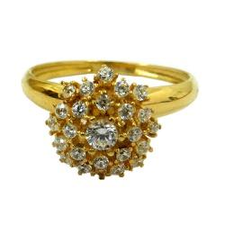 Anel Chuveiro de Ouro com Zircônias - J18400380 - RDJ JÓIAS