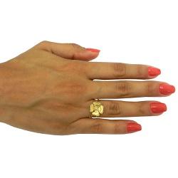 Anel em Ouro 18k Flor com Brilhante - JAR000522-2 - RDJ JÓIAS
