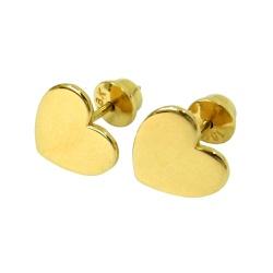 Brinco de Ouro Coração - J01501612 - RDJ JÓIAS