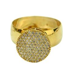 Anel em Ouro 18k Pavê com Zircônias - J06202052 - RDJ JÓIAS