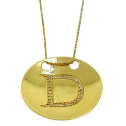 Pingente de Ouro Letra D com Brilhantes - J0760174 - RDJ JÓIAS