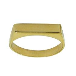 Anel em Ouro 18k Chapa Forrado - J10801893 - RDJ JÓIAS