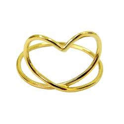 Anel em Ouro 18k Coração Vazado - J10802107 - RDJ JÓIAS