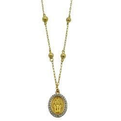 Gargantilha Terço em Ouro 18k - J12801305 - RDJ JÓIAS