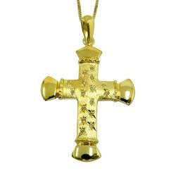 Crucifixo em Ouro 18k Grande com Brilhantes - JPGR... - RDJ JÓIAS