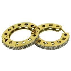Argola em Ouro Click com Brilhantes - JBR000127-1 - RDJ JÓIAS