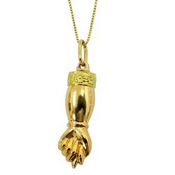 Pingente em Ouro 18k Figa - JPGR001021-8 - RDJ JÓIAS