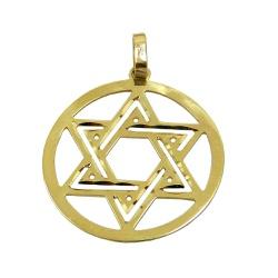 Pingente de Ouro Estrela de Davi - JPGR000221-4 - RDJ JÓIAS