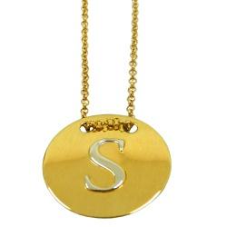 Gargantilha de Ouro Letra - J14500987 - RDJ JÓIAS