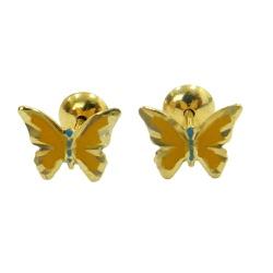Brinco de Ouro Infantil Borboleta - J00200173 - RDJ JÓIAS