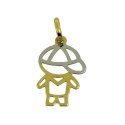 Pingente de Ouro 18k Menino Vazado - J18000198 - RDJ JÓIAS