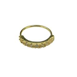 Piercing de Ouro 18K Argola com 9 Zircônias - J18... - RDJ JÓIAS
