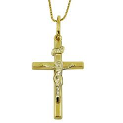 Crucifixo de Ouro 18k 0,750 com Cristo - J0310117 - RDJ JÓIAS