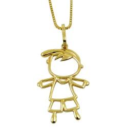 Pingente de Ouro Menino Vazado - J07600413 - RDJ JÓIAS
