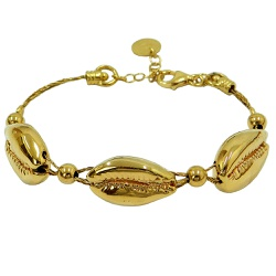 Bracelete de Búzios em Ouro 18k - J12200158 - RDJ JÓIAS