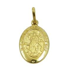 Medalha em Ouro 18k N.Senhora das Graças - J031005... - RDJ JÓIAS