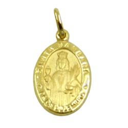 Medalha em Ouro 18k Santa Bárbara - J03100999 - RDJ JÓIAS