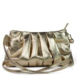Bolsa Tiracolo Drapeada Ouro Light
