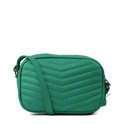 Bolsa Tiracolo Couro Matelassê Verde