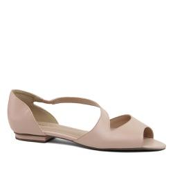 Sandália Flat Couro Flamingo