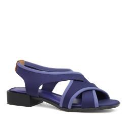 Sandália Trançada Neoprene Azul Royal