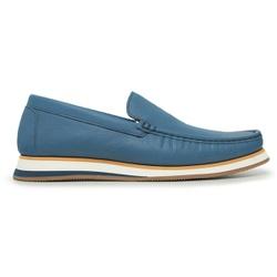 Sapato Casual Tokyo Masculino Couro Flint Blue - ... - Loja Riccally