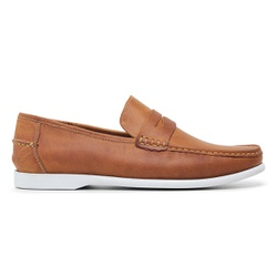 Dockside Casual Masculino Couro Fossil Whisky Ricc... - Loja Riccally