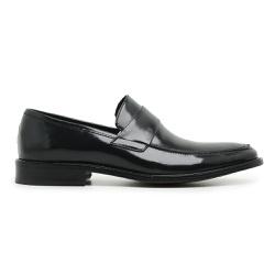 Sapato Social Masculino Loafer Couro Preto Riccall... - Loja Riccally