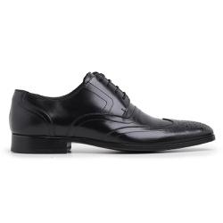 Sapato Social Masculino Brogue Couro Preto Riccall... - Loja Riccally