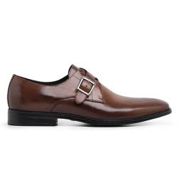 Sapato Social Masculino Monk Strap Couro Wisky Ric... - Loja Riccally