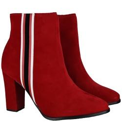 Bota Vermelha Listra Beira Rio - Rilu Fashion
