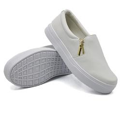 Slip On Calce Fácil Zíper Branco DKShoes - Rilu Fashion