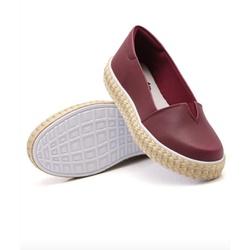 Sapatilha Pietra Corda Marsala DKShoes - Rilu Fashion