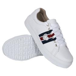 Tênis Casual Coração Branco DKShoes - Rilu Fashion