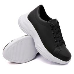 Tênis Casual Chuncky Preto Sola Tratorada DKShoes - Rilu Fashion